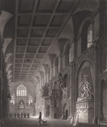 Internal View of Guildhall, London 13-f